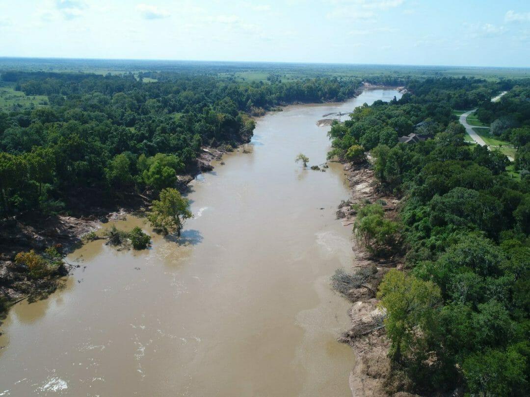 Brazos River Aerial Photography